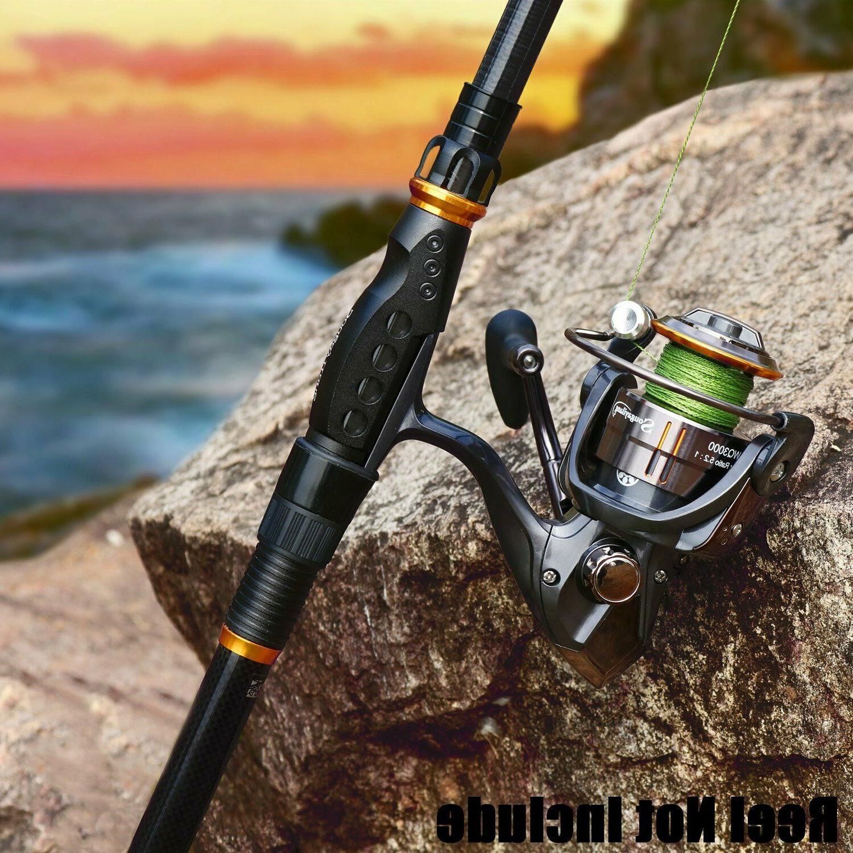 Sougayilang Fishing Rod Ton Carbon Hard Telescopic Spinning