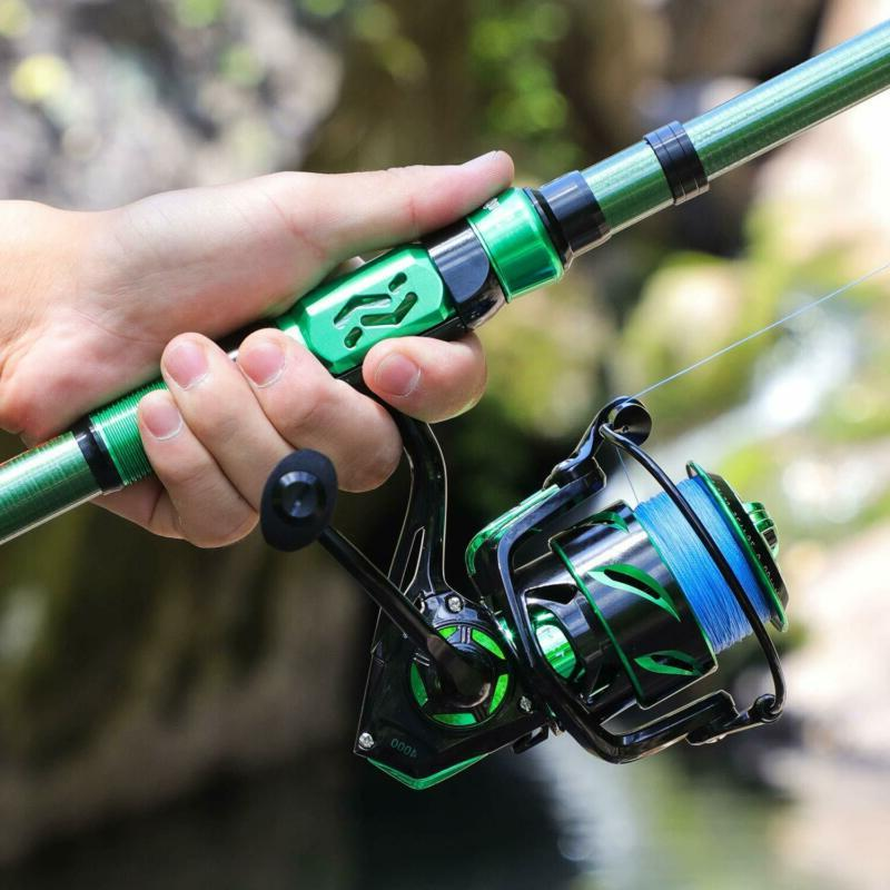 Sougayilang Fishing Combos,Portable Telescopic Pole Spinning
