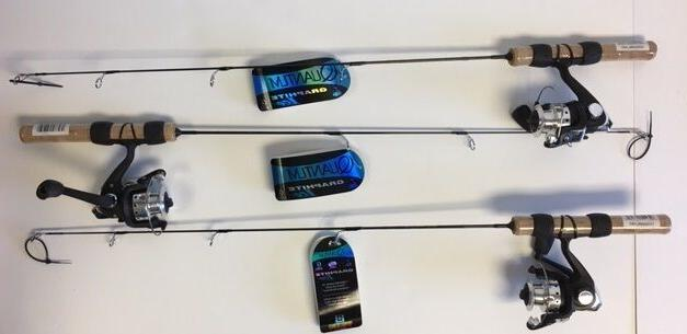 Quantum/Zebco Graphite Ice Fishing ComboSold in a lot of 3 -