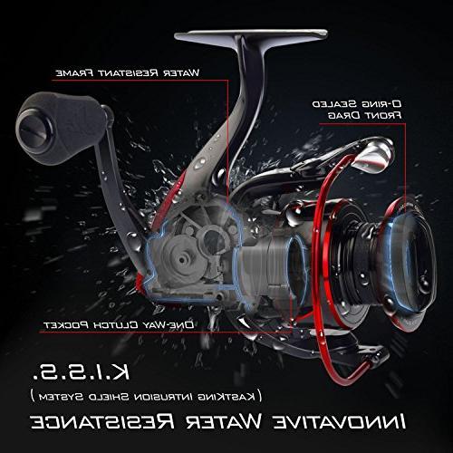 KastKing Reel Reel - 39.5 LBs - 10+1 for Freshwater - Oversize Shaft Super
