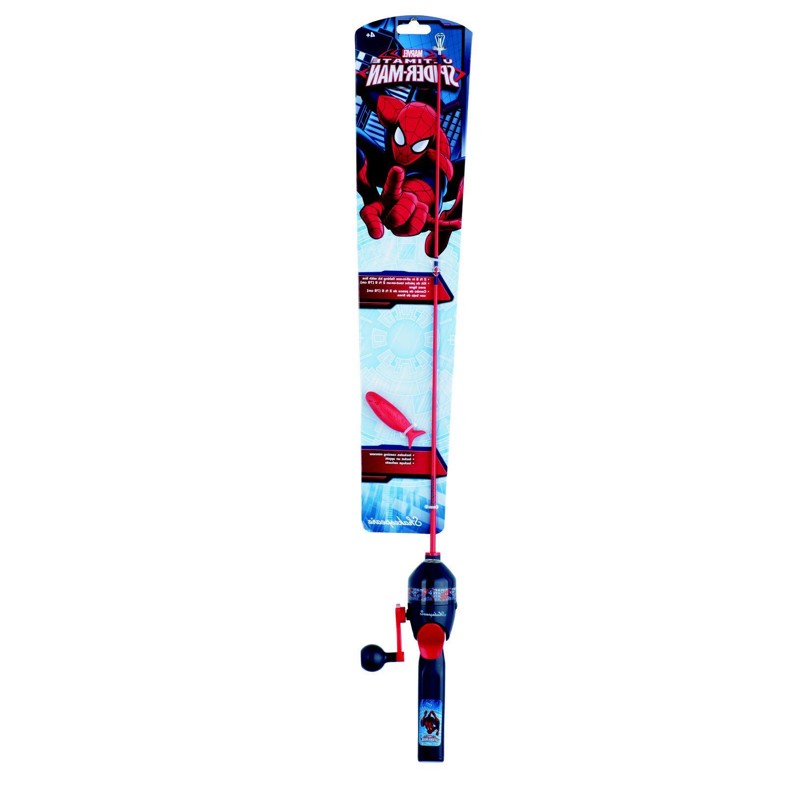 spiderman fishing pole kit