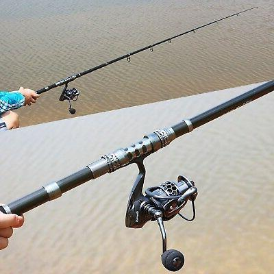 Sougayilang Spinning and Combos Telescopic Fishing Spinning reels for Travel Freshwater