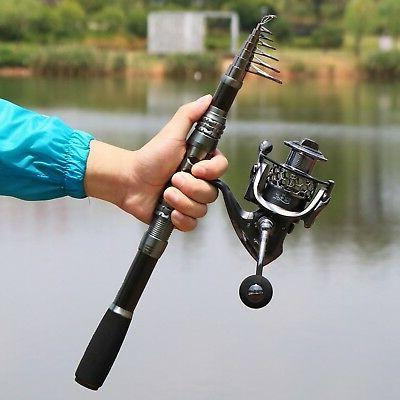 Sougayilang Fishing Rod and Telescopic Fishing reels for Freshwater