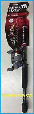 New Telecast Combo Fishing Rod Reel Pole Rhino 6' Telescopic