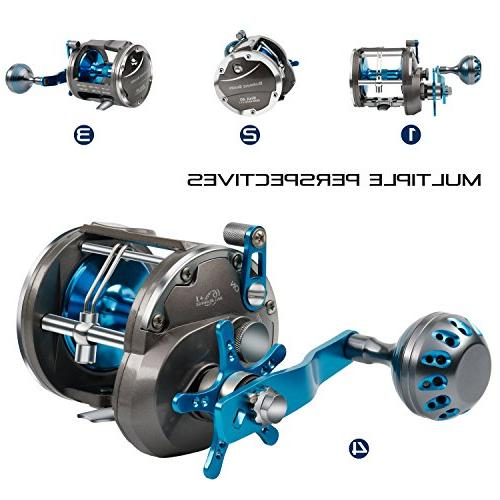 Burning Shark Trolling Reel Saltwater Wind Drag Reels Boat Ocean Bass Grouper Salmon