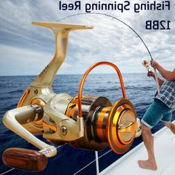 Saltwater Spinning Reels Lure Fishing Reel 12BB Drag Handle