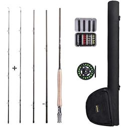 PLUSINNO Lightweight Ultra Portable Fly Fishing Rod and Reel