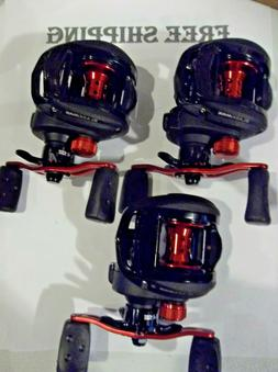 Lot of 3 Abu Garcia Black Max 3 right handed baitcast reels