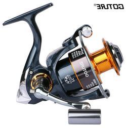 Goture Metal Spool Spinning Fishing Reel 5.2:1 10+1BB Bass C