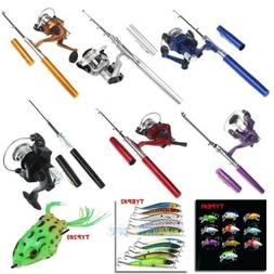 Mini Aluminum Portable Pen Shape Fishing Fish Rod Pole+Reel+