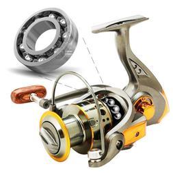 Mini Ice Fishing Spinning Reel 6BB 5.2:1 Metal Spool Lightwe