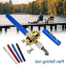 Mini Portable Pocket Fish Pen Shape Aluminum Alloy Fishing R