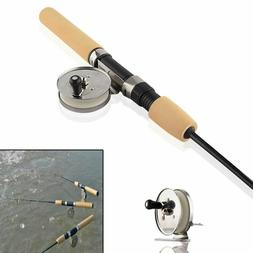 New Carbon Winter Spinning Reels Ice Fishing Rods Pen Pole R