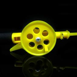 Outdoor Kids Ice Fishing Rod Plastic Pole With Reels Wheel A