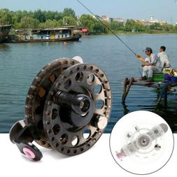Plastic Ice Fishing Reels Fly Fishing Tackle Round Wheel Min
