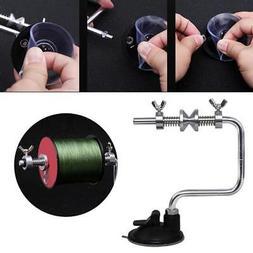 Portable Aluminum Fishing Line Winder Reel Spool Spooler Tac