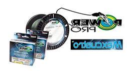 PowerPro Maxcuatro Braided Fishing Line 50lb 1500yds Moss Gr