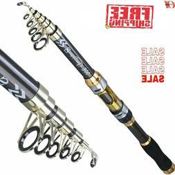 Professional Spinning Fishing Rod Carbon Fiber Telescopic Po