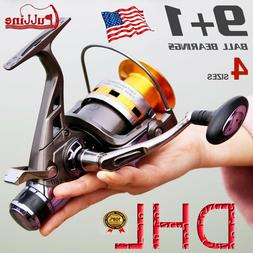 PULLINE Salt+Fresh Water Spinning Fishing Reel 9+1BB Metal B