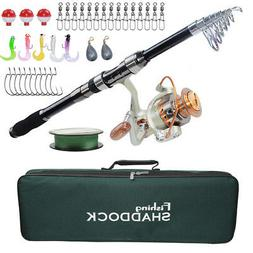 Saltwater Fishing Spinning Rod and Reel Combo Telescopic Rod