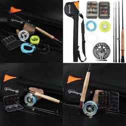 Sougayilang Saltwater Freshwater Fly Fishing Rod With Reel C