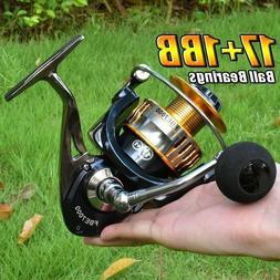 Saltwater Spinning Reel Fishing Reels 17+1BB 2000-7000 Metal