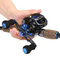 Sougayilang Sapphire Fishing Rod with Reel Combos Baitcastin