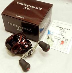 SHIMANO Scorpion 201 Baitcasting Reel LEFT HANDED 6.3:1 Gear
