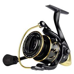 KastKing Sharky III Gold Fishing Reel, Zero-Flex Aluminum Bo