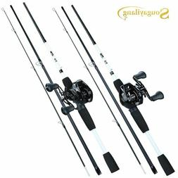 Sougayilang 1.75m Fishing Rod Reel Combo Portable 3 Section
