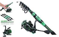 Sougayilang Fishing Rod Reel Combos,24Ton Carbon Green-1.8m/