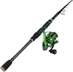 Sougayilang Fishing Rod Reel Combos with Telescopic Carbon F