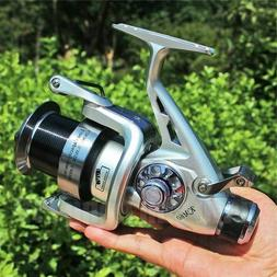 Sougayilang Spinning Fishing Reel 5.2:1 Dual Brake Feeder 11