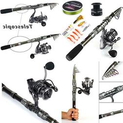 Spinning Fishing Rod And Reel Combos Portable Telescopic Fis