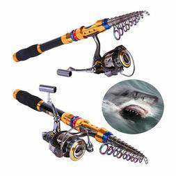Superhard Carbon Fiber Telescopic Fishing Rod with Fishing R
