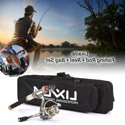 Lixada 2.4m Telescopic Fishing Rod and Reel Combo Full Kit S