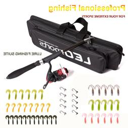 Telescopic Fishing Rod Reel Full Kits Set With Hook Lure Fis