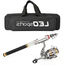 Telescopic Spinning Fishing Rod And Reel Combo Package Saltw