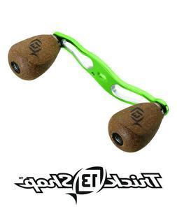 13 Fishing Trick Shop Lime/Silver Handle With Cork Knobs For