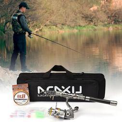 Lixada Telescopic Fishing Rod Spinning Reel Combo Full Kit +