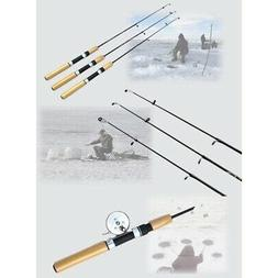 US Portable Winter Ice Fishing Rod Tackle Gear Spinning Hard